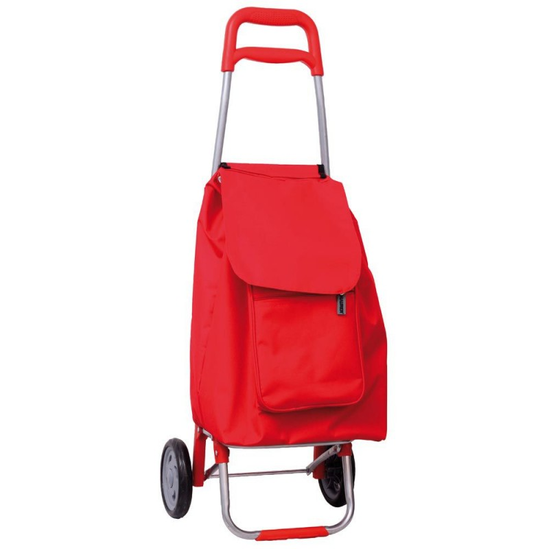 Shopping Cart Red 2 Wheels 45 Liters
