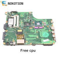 Nokotion placa-mãe para laptop  placa mãe para laptop toshiba  satélite  a300  a305  placa principal v000125600 ''ddr2  cpu grátis