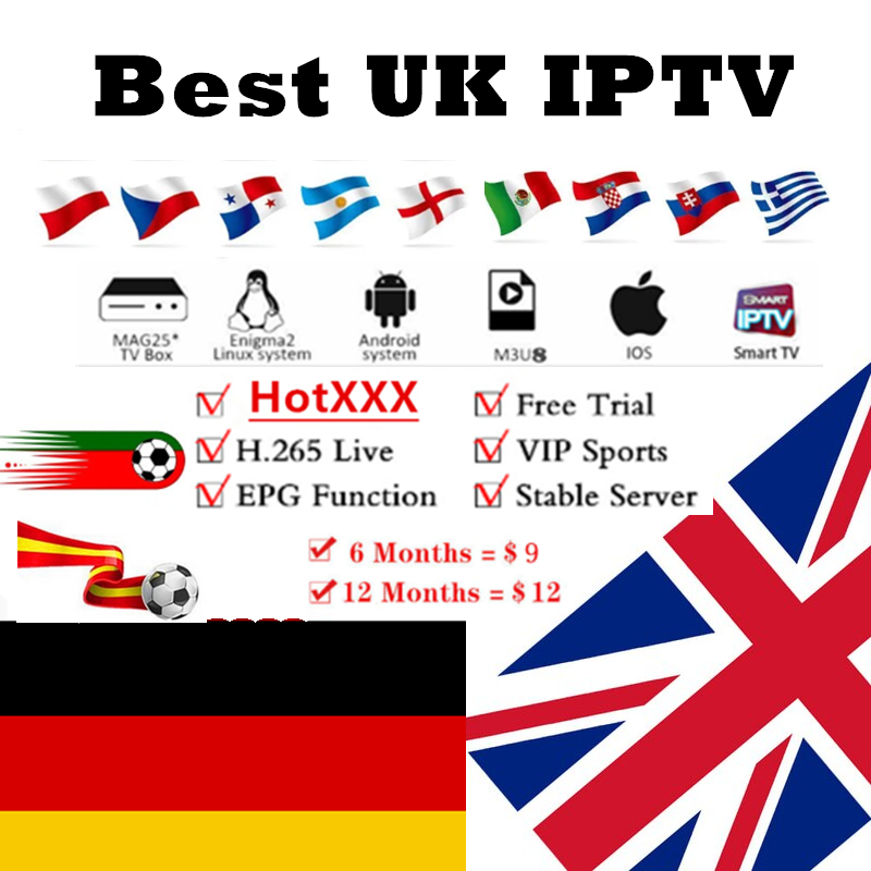2020Best German IPTV Subscription UK IPTV Europe FR German Poland Dutch Spain Portugal With XX IPTV M3U For Magxx Android Engima