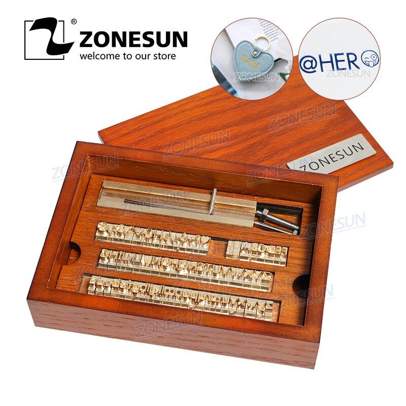 ZONESUN 6 mmpersonnalisé en laiton timbre bois bricolage artisanat Alphabet lettre numéro symbole en cuir timbres estampage envie outil marque fer moule