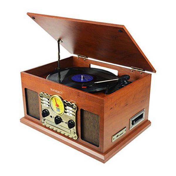 Проигрыватель для записи Sunstech PXRC5CD WD Wood