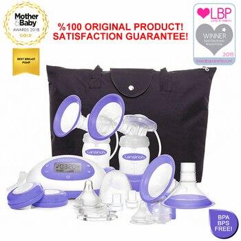 Lansinoh Breast Pump 2-in-1 Double Electric Breast Pump Breastfeeding Milk Breastpump Comfort and Flexibilty Single or Double