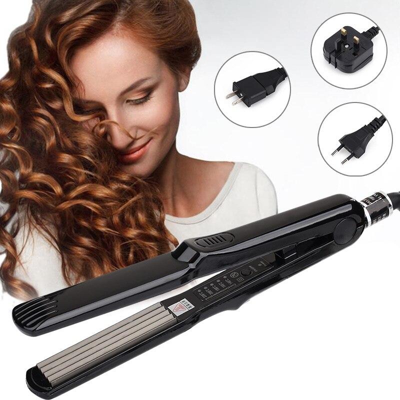 Güzellik ve Sağlık'ten null'de Profesyonel saç bukle makinesi s bigudi elektrikli Crimper seramik oluklu bigudi bukle makinesi saç şekillendirici elektrikli oluklu title=