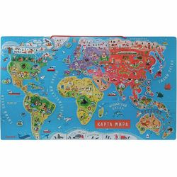 World map magnetic пазлами, 92 el., Rus. Language