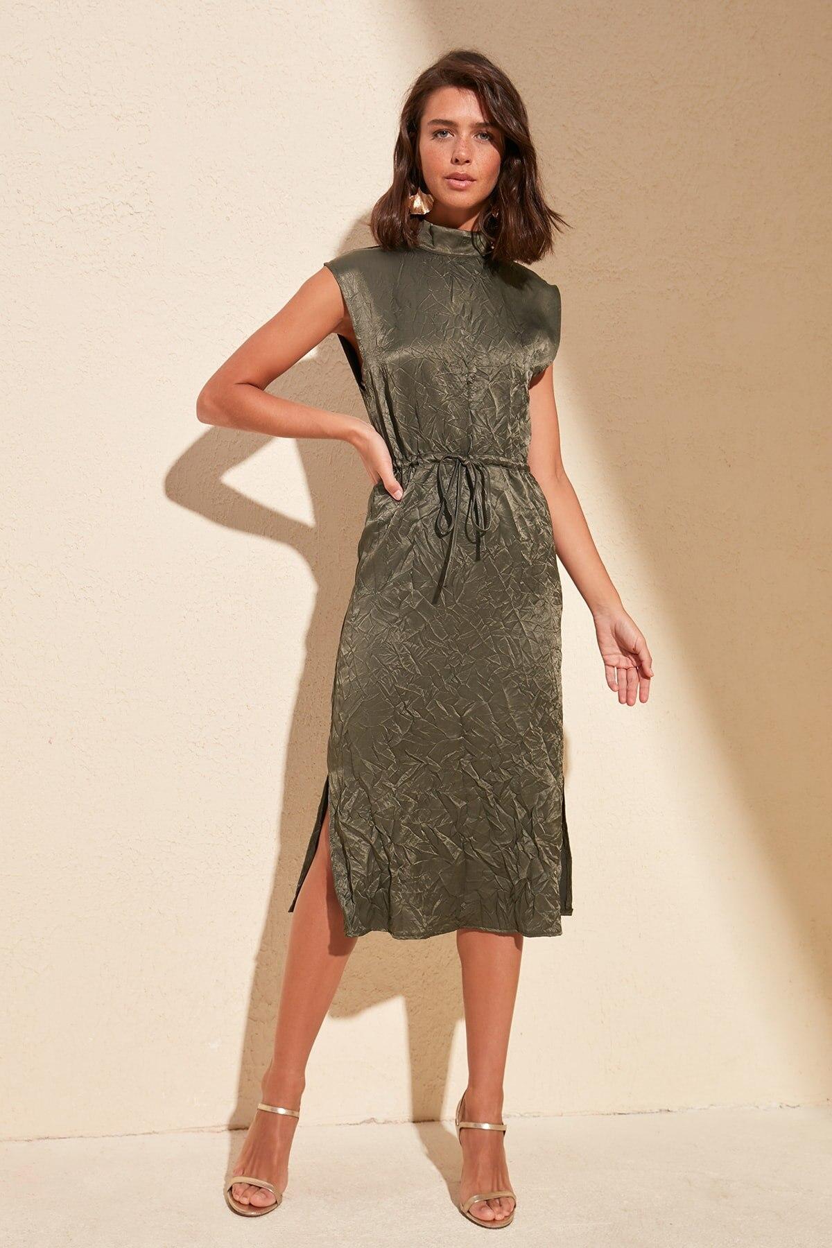 Trendyol With Crinkle Effect Dress TWOSS20EL1275
