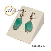 Jade earrings 925 sterling silver, round drop earrings, natural gemstone earrings AV jewelry