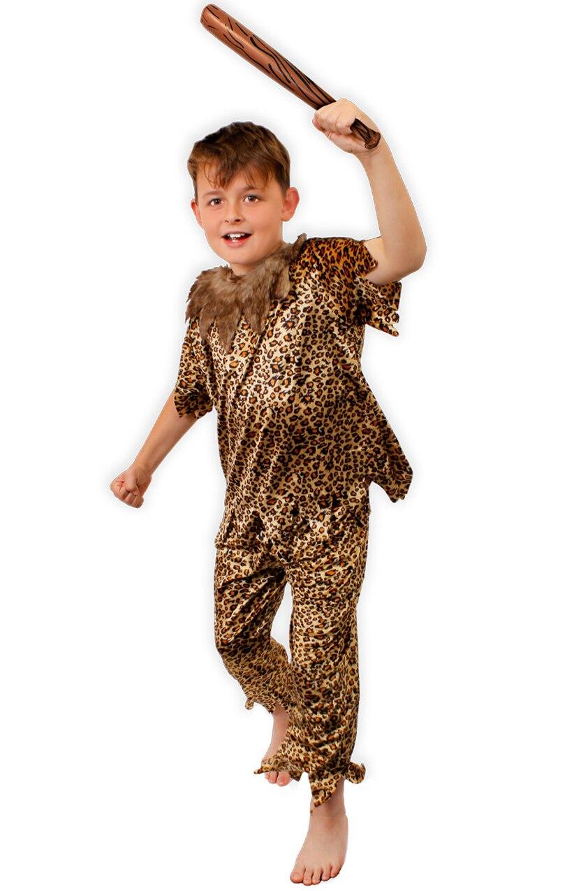Caveman Kids Fancy Dress Cave Boy Man Stone Age Boys World Book Day Costume