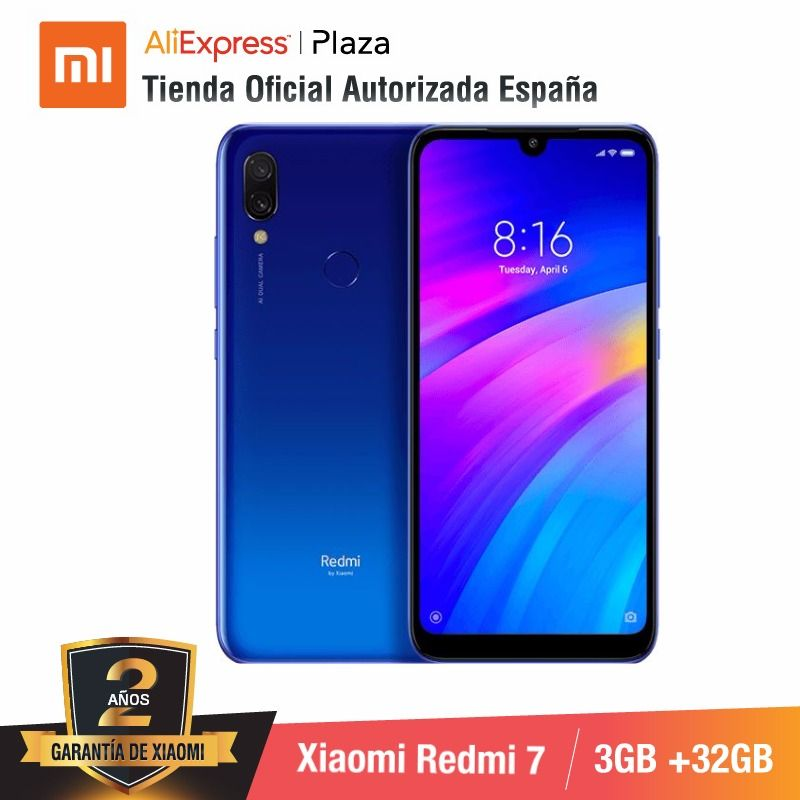 [Global Version For Spain] Xiaomi Redmi 7 (Memoria Interna De 32GB, RAM De 3GB, Bateria De 4000mah)