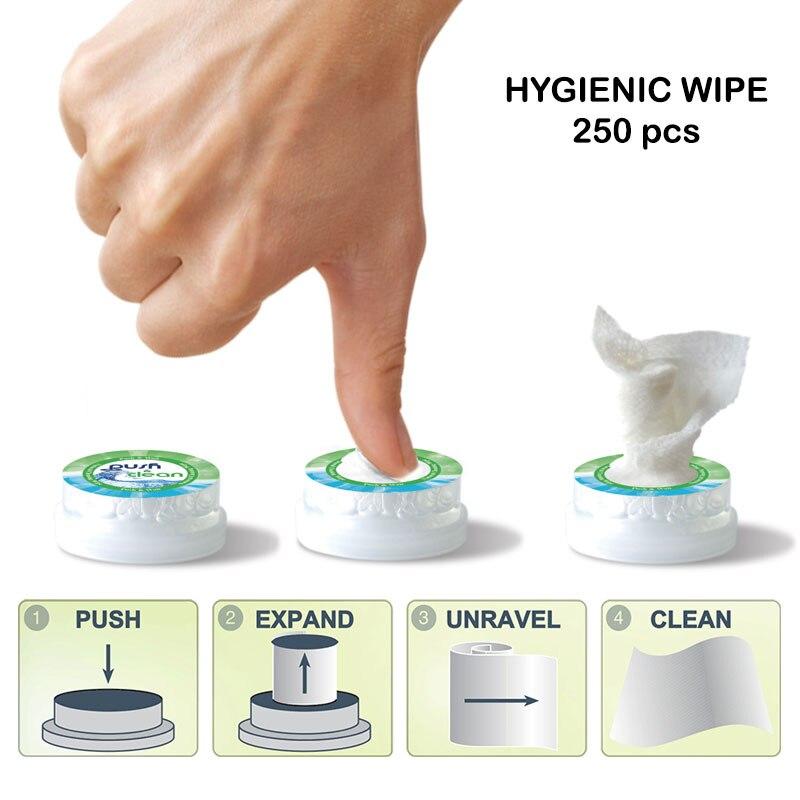 HYGIENIC WIPE PUSH CLEAN 250 Pc