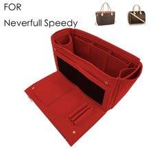 Для neverfull mm pm gm быстрое фетровая сумка органайзер с карманами;