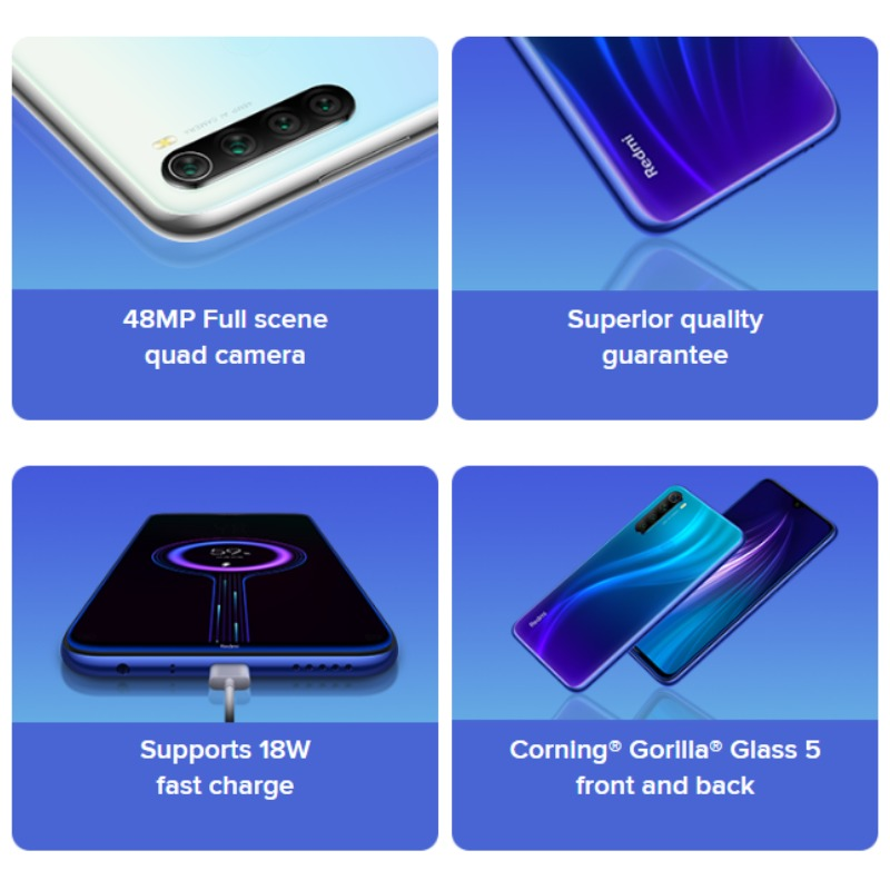 Global Version Redmi Note 8 128GB ROM 4GB RAM (Brand New and Sealed), note8 128gb Smartphone Mobile