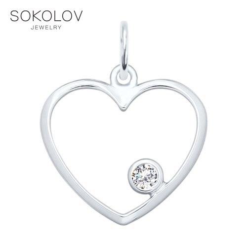 SOKOLOV Suspension Of Silver Fashion Jewelry 925 Women's Male, Pendants For Neck Women