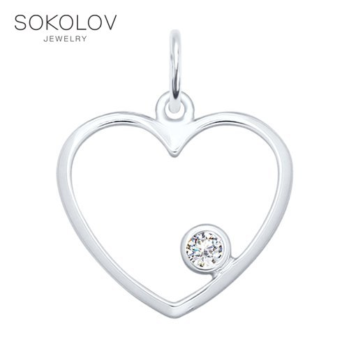 SOKOLOV Suspension Of Silver Fashion Jewelry 925 Women's Male