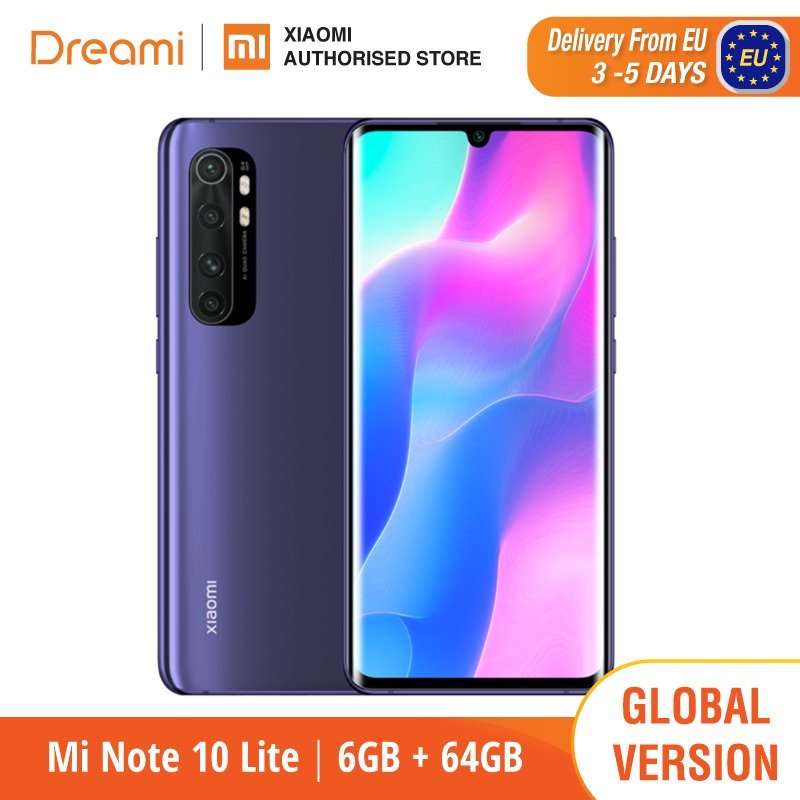 Global Version Xiaomi Mi Note 10 Lite 6GB RAM 64GB ROM (Brnad New / Sealed) note10, note10lite, 64, Telephone mobile