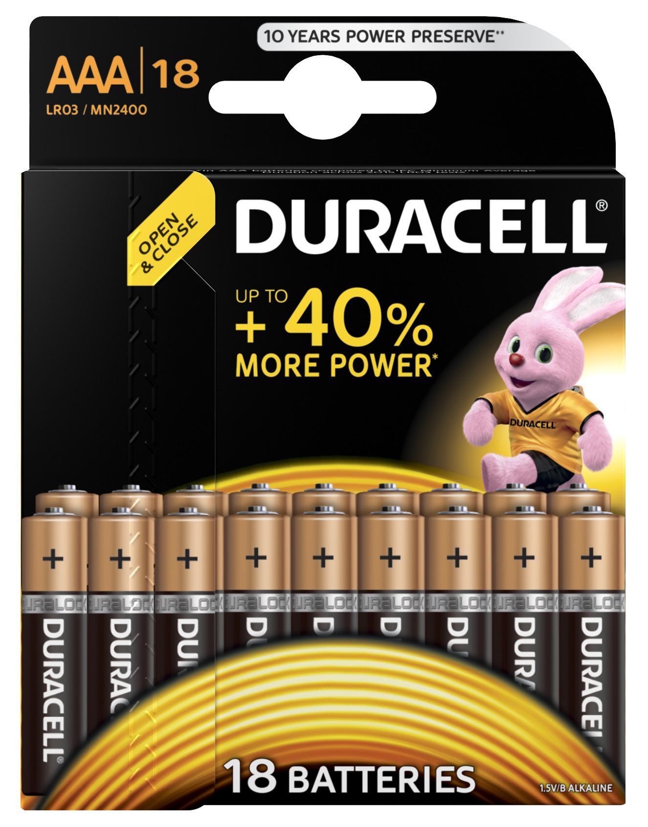 Battery DURACELL LR03-18BL BASIC Б0014449