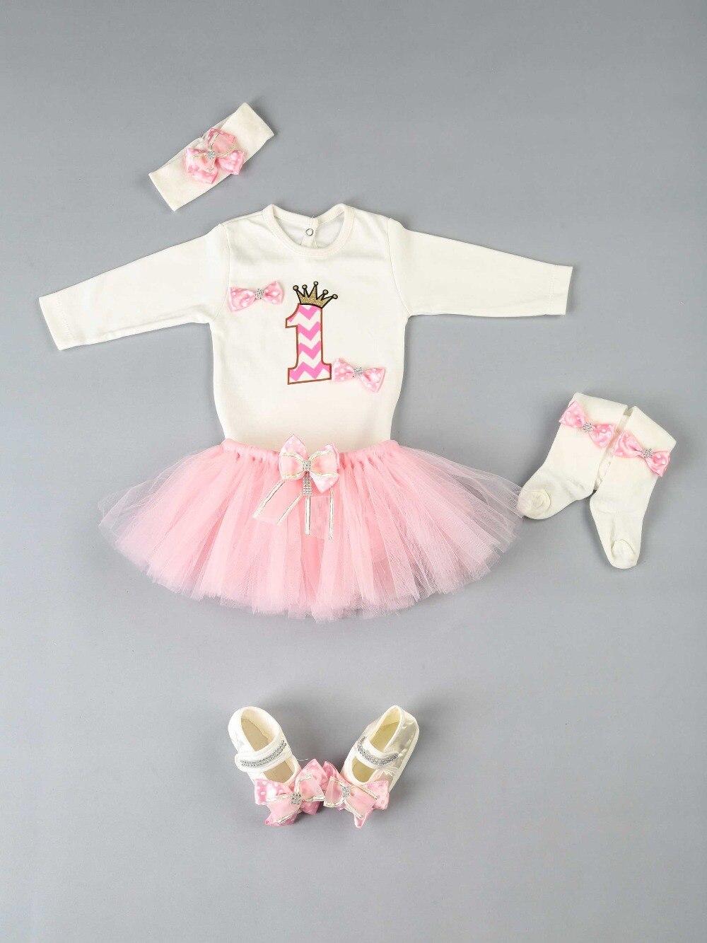 083-1101-021 Pembe 1 Yaş Kız Bebek Tütü Takım (2)