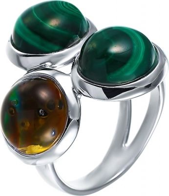 Jay VI Ring With Mother Of Pearl And Silver Malachite