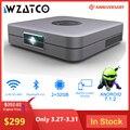 WZATCO D1 DLP Proiettore da 300 pollici supporto Home Cinema Full HD 1920x1080P,32GB Android 5G WIFI AC3 Video Beamer 3LED MINI Proiettore