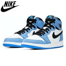 Basketball-Shoes Trainer Sports-Sneakers Retro Air-Jordan-1 Blue Nike Women High-Og Fashion