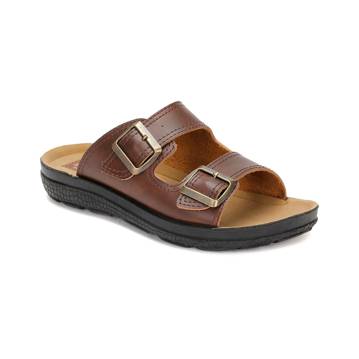 FLO Men Slipper Brown Color Summer Comfortable Casual Fashion Mens Slippers   BESS M 1602 Flexall
