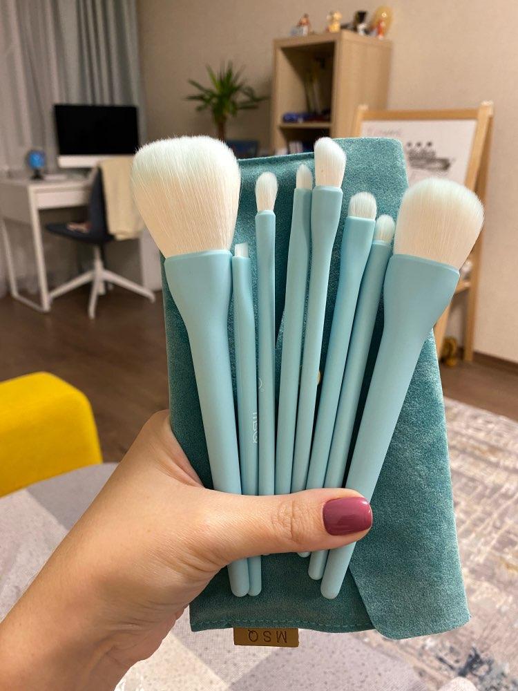 8PCS Makeup Brushes Sets Powder Foundation Blusher Eyeshadow Brush Candy Cosmetic Colorful Make Up NO MSQ LOGO With Bag reviews №1 156499