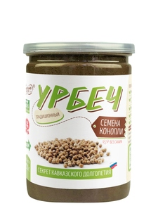 Natural hemp seed paste, sugar free, palm oil free, TM # Namazh_nuts 230 gr., Healthy food, urbech