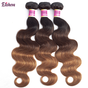 Image 3 - Elisheva Ombre Bundles with Frontal 1b 4 30 bundles with closure Body Wave Remy Brazilian Hair Weave Bundles With Closure 150