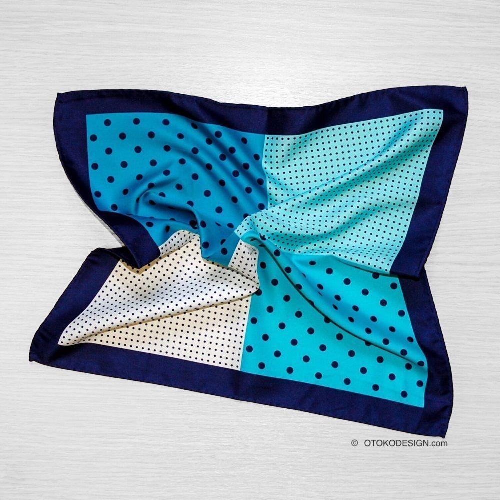 Silk Pocket Square Blue (50029)