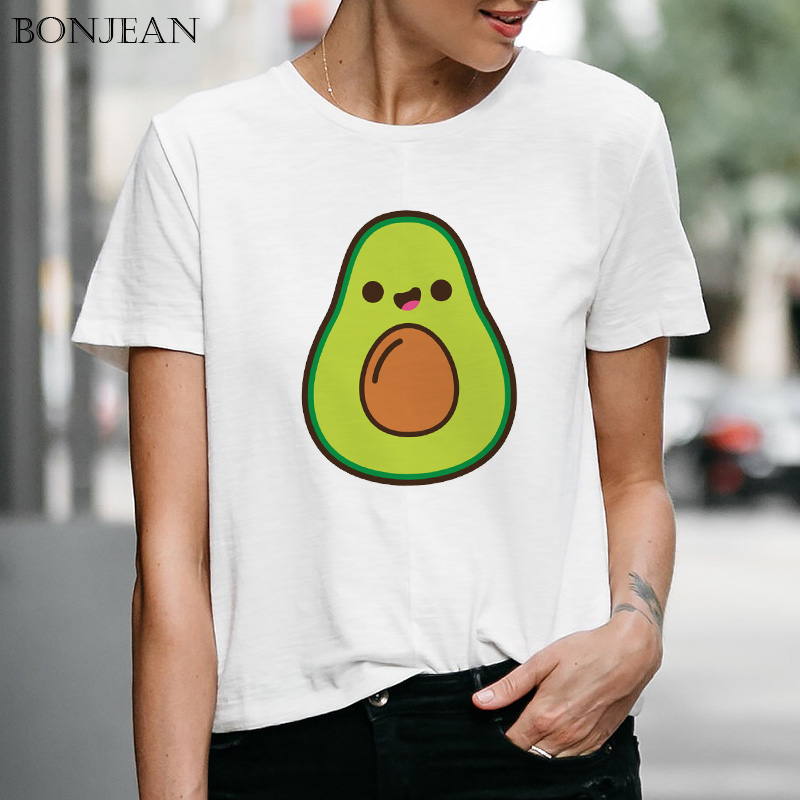 Funny Avocado Cartoon T Shirt Women Vegan Short Sleeve Cute Slim Fit Casual T Shirt Harajuku Aesthetic Graphic Female Tee Tops T Shirts Aliexpress Welcome to fly fit vegan. aliexpress