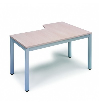OFFICE TABLE EXECUTIVE SERIALS L SHAPE LEFT 180X120 ALUMINUM/BEECH