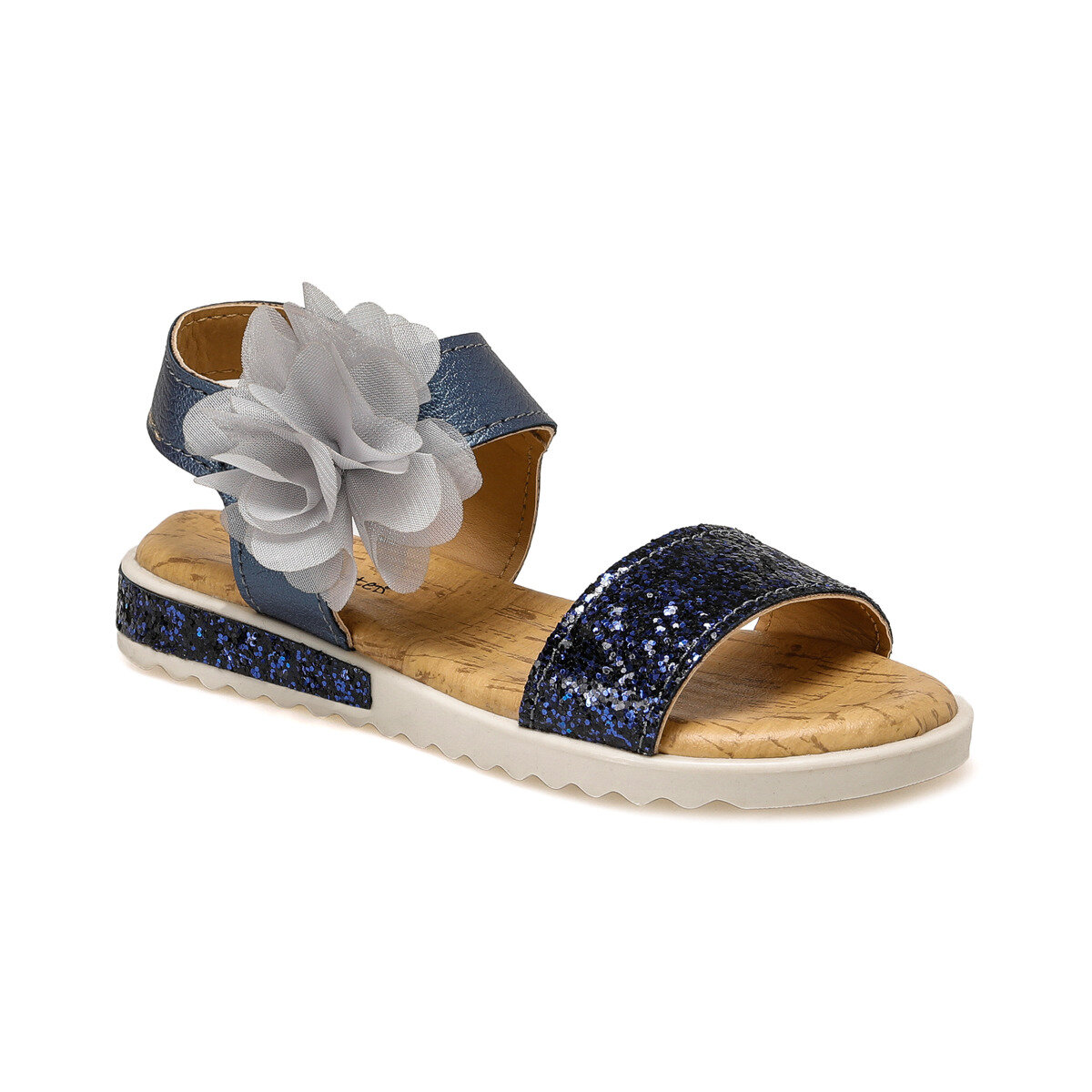 FLO SUVLA Navy Blue Female Child Sandals PINKSTEP