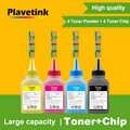 Plavetink 4 adet dolum Toner tozu için çip ile CLT-407S CLT 407 Toner kartuşu CLP-320 CLP-325 326 CLX-3180 yazıcı