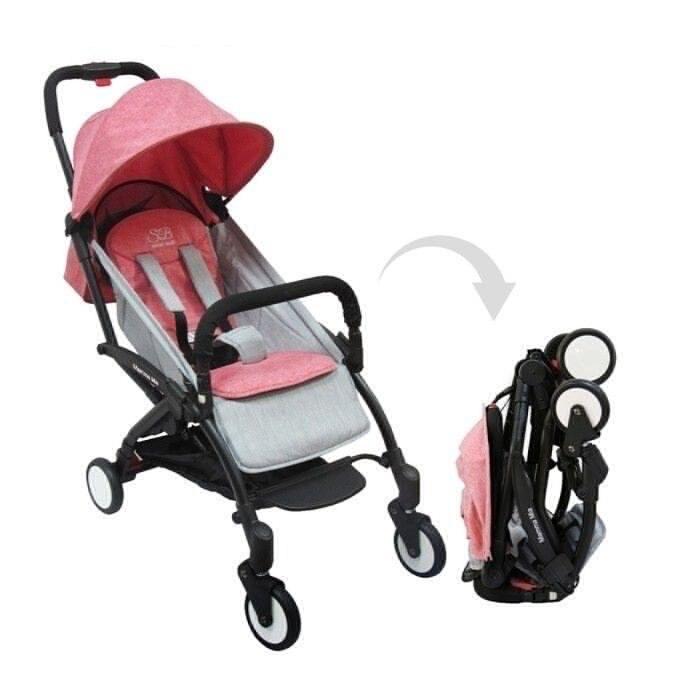 Коляска прогулочная Sweet Baby Mamma Mia Linen Milos (розовый с серым)