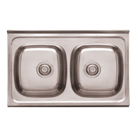 Sink 2 Breast For Furniture Model Dp8050