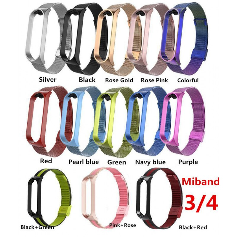 Spare Part Metal Bracelet For Xiaomi Mi Band 3 / Mi Band 4