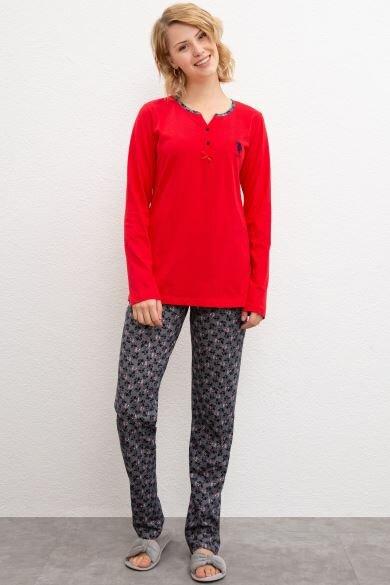 U.S. POLO ASSN. Red Pajamas Set