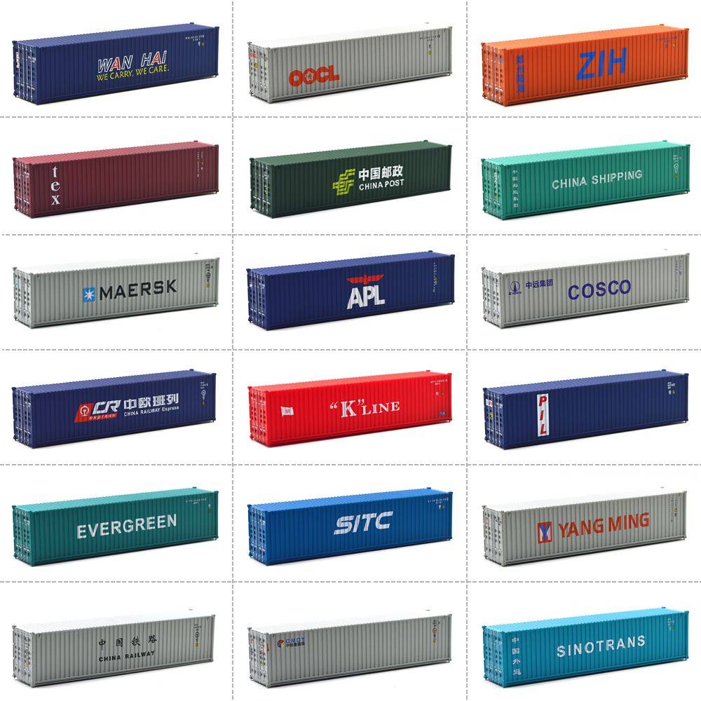 HO Scale Model Train Accessories 40 Feet Shipping Freight Container Scale 1: 87 Train Model Railway Out