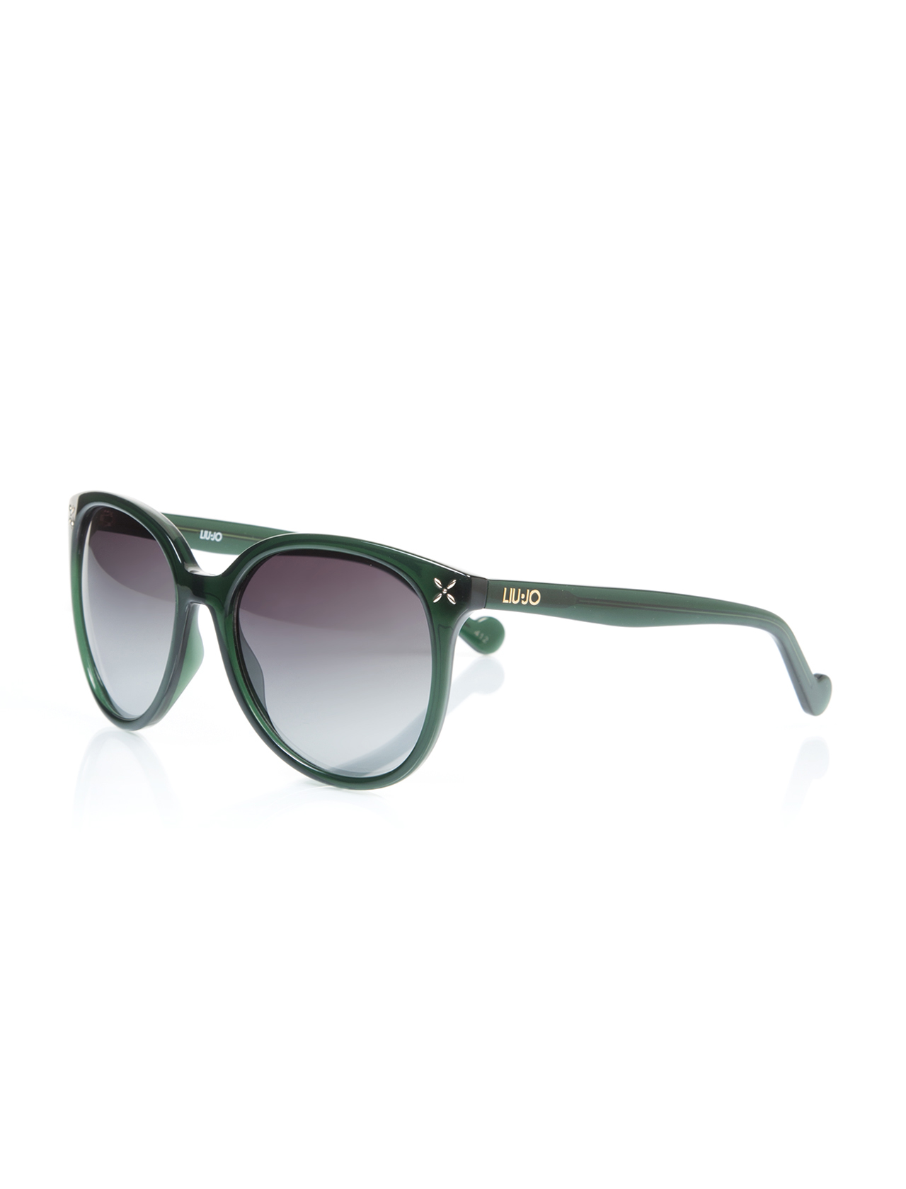 Women's sunglasses lj 619 303 bone green organic oval aval 56-18-135 liu jo
