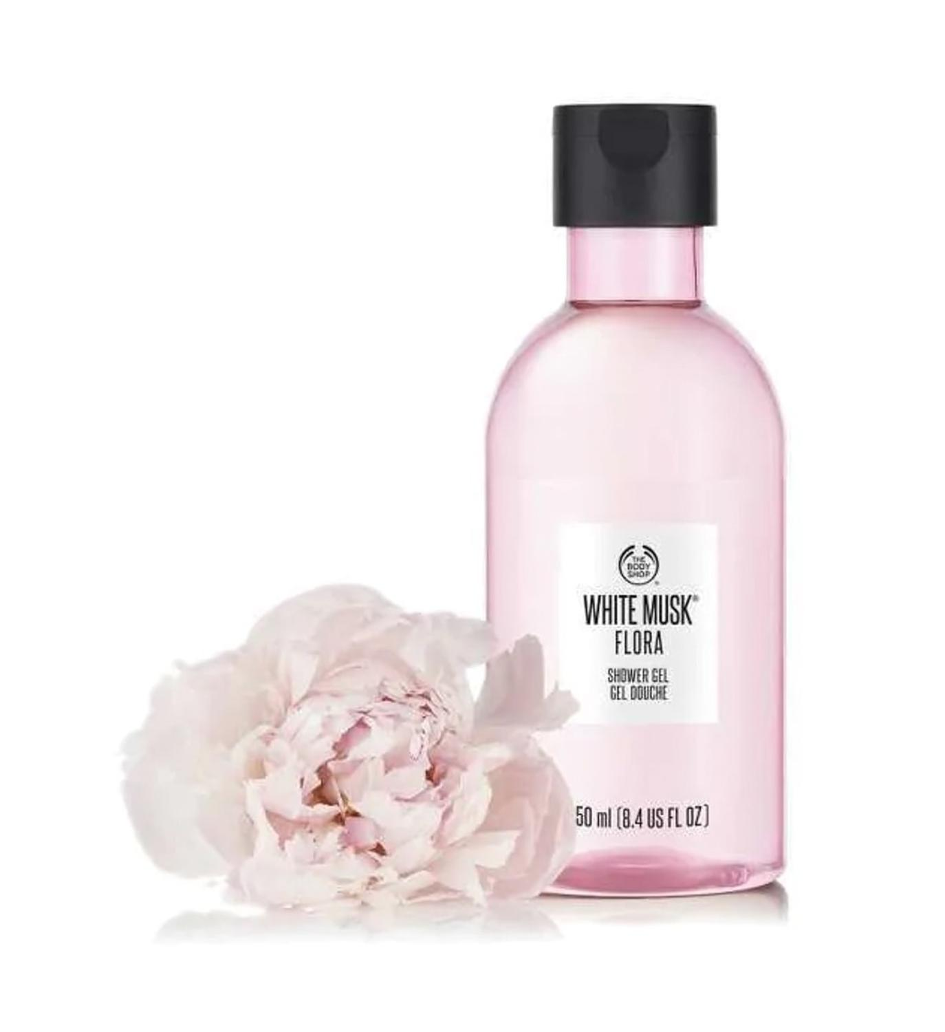The Body Shop White Musk Flora Shower Gel Cream Body Washer 250 Ml Moisturizing Nourishing Dry Skin Fresh Smell Soap Free Bath