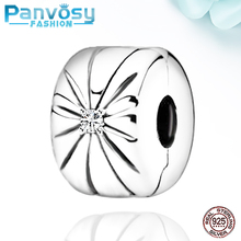 2020 New 925 Sterling Silver Daisy Zircon Beads Fit Pandora Charms Silver 925 Original Bracelet Clip Fashion Jewelry Making  DIY new arrival 925 silver charms beads with colorful cz stone fit authentic pandora bracelet diy fashion jewelry making women gift