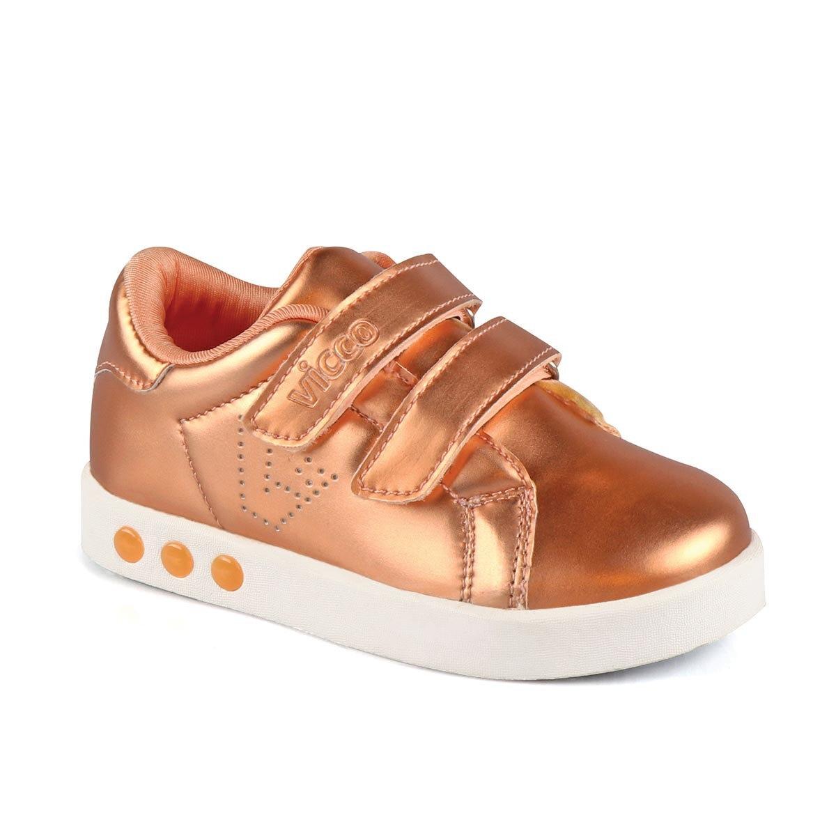 FLO 313. B19K. 200 BEBE WORK LIGHT Bronze Female Child Thick Soled Sneaker VICCO