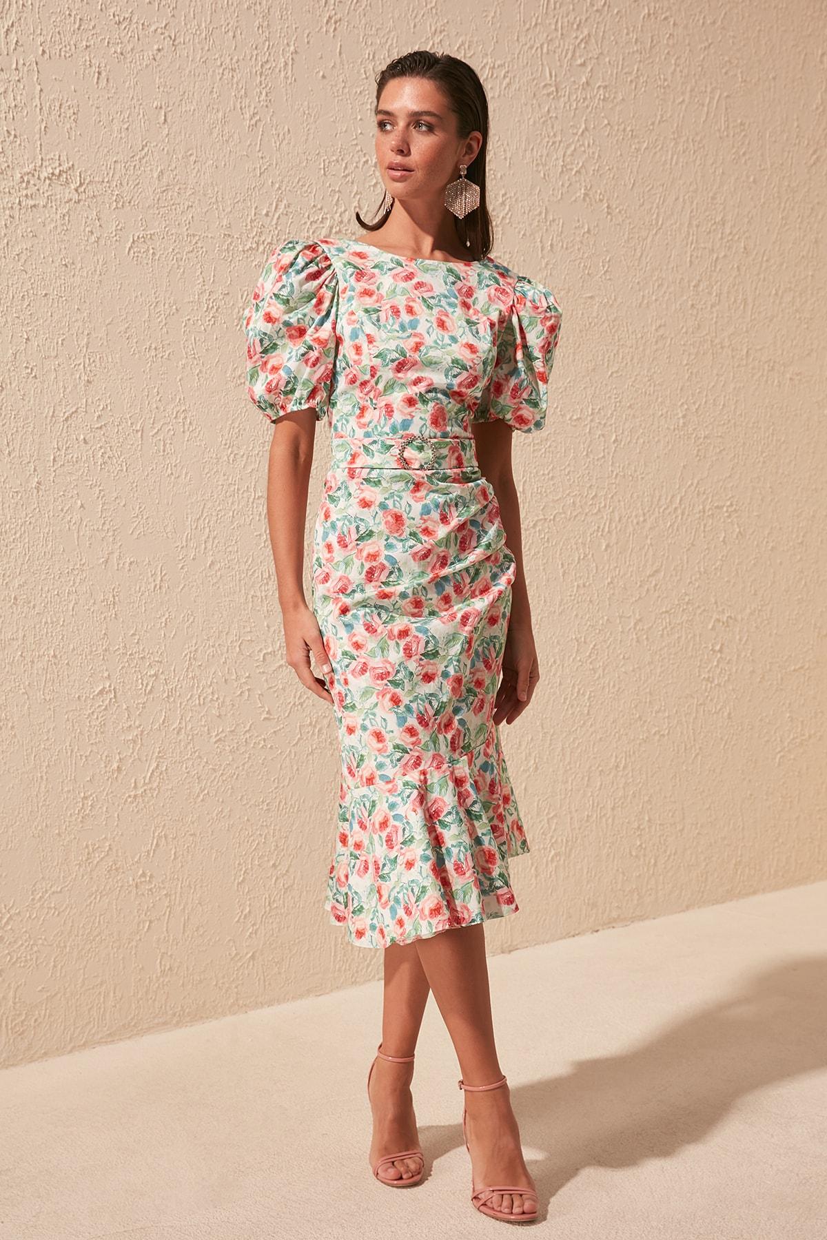 Trendyol Arched Drape Detail Dress TPRSS20EL1446