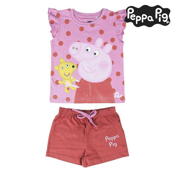Summer Pyjama Peppa Pig Pink Red