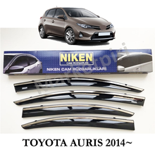 Toyota Auris Chrome Applied Wind Deflector 2013~ Niken A+ Quality