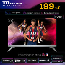 Televisores Smart TV 32 Pulgadas TD Systems K32DLJ12HS. 3x HDMI, DVB-T2/C/S2, HbbTV [Envío desde España, garantía de 2 años]