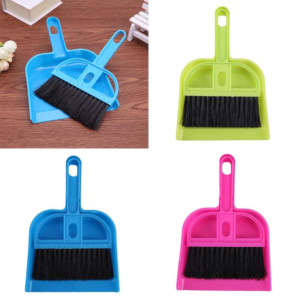 Dollhouse Mini Furniture Miniature Plastic Broom Dustpan Cleaning Tool Baby Kids Pretend Play Furniture Toys Doll Accessories
