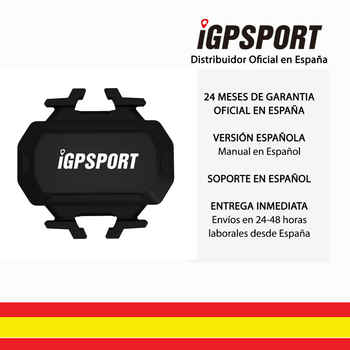 IGPSPORT SPD61 (versión española) -Sensore Velocidad inalámbrico ANT + y Bluetooth 4.0 Ciclismo Bicicleta Garmin Wahoo Bryton App