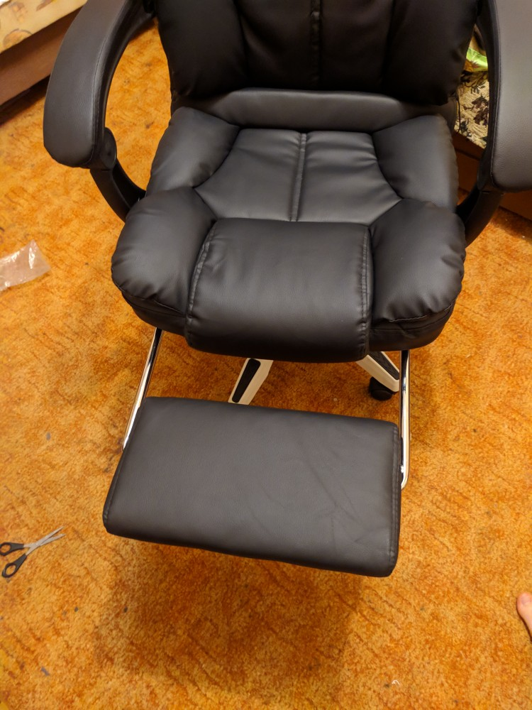 special offer office chair computer boss chair ergonomic chair with footrest-in Office Chairs from Furniture on AliExpress