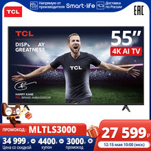 55 inch TCL 55P615 4K LED UHD Android TV TV 3840×2160,Dolby Audio,HDMI х 3, USB х 2