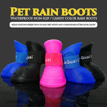 Waterproof Dog Puppy Shoes Rain Shoes for Small Medium Dogs Rubber Pet Shoes S-L